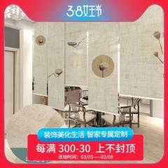 新中式亚麻遮光卷帘茶室窗帘软隔断帘拉帘禅意客厅升降式遮光