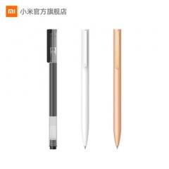 小米中性笔10支装0.5mm办公签字笔考试专用学生用子弹头笔芯米家签字笔黑笔水文具用品按压中性笔