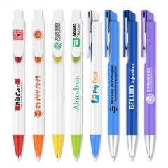Fan大容量商务中性笔定制logo 广告笔签字水笔定做印彩色二维码