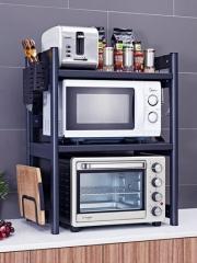 厨房置物架微波炉架烤箱架子桌面台面用品家用大全可伸缩双层收纳