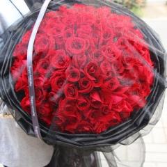 99朵红玫瑰花束鲜花速递同城生日送北京上海广州深圳南京成都杭州